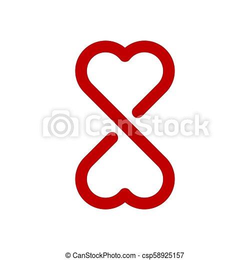 Infinity love symbol - csp58925157