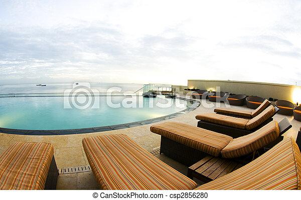 infinity pool luxury port of spain trinidad - csp2856280