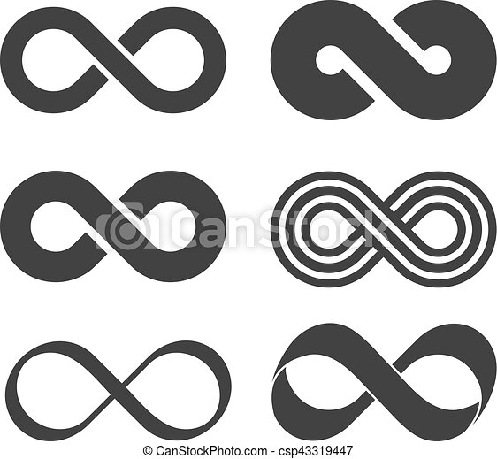 Infinity sign. Mobius strip - csp43319447