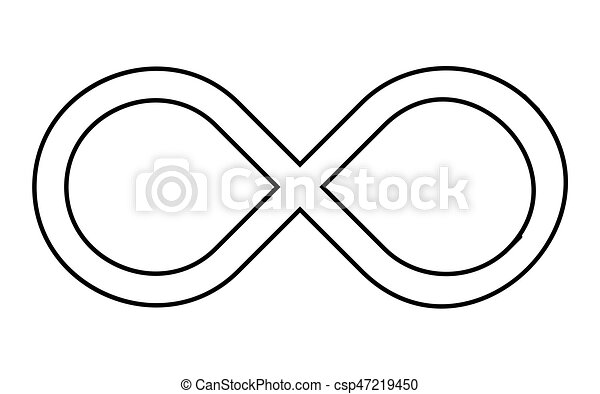 Infinity Sign Silhouette Vector Symbol Icon Design Beautiful