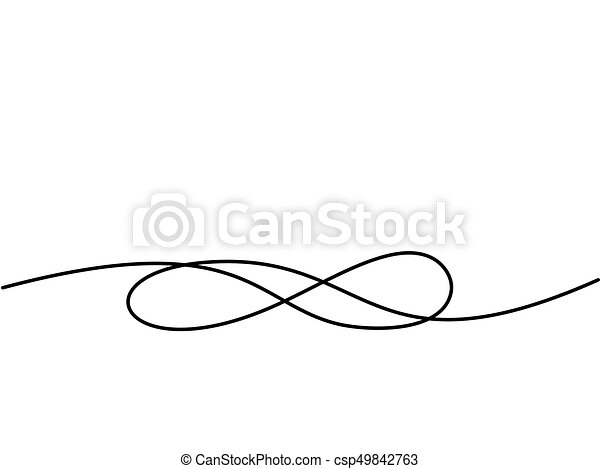Infinity symbol. Continuous line drawing icon - csp49842763