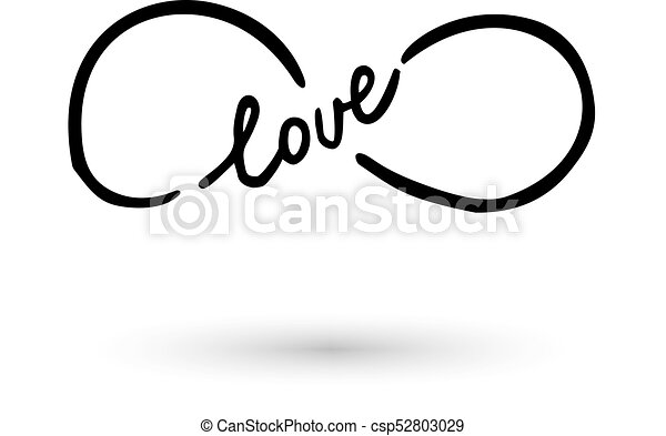 Infinity Symbol Hand Drawn With Ink Brush Infinity Symbol With Word