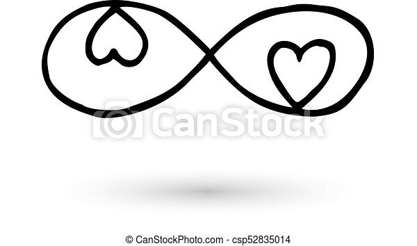 Infinity Symbol Hand Drawn With Ink Brush Infinity Symbol With