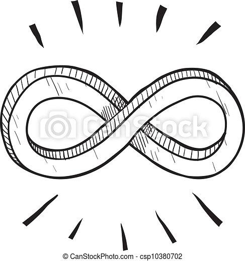 Infinity symbol sketch - csp10380702