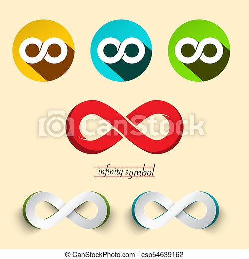 Infinity Symbol. Vector Endless Icons Set. - csp54639162