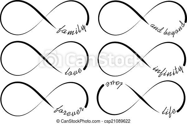 Infinity symbols - csp21089622