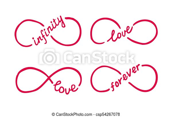 Infinity Symbols With Words Love Infinity Forever Thin Line With