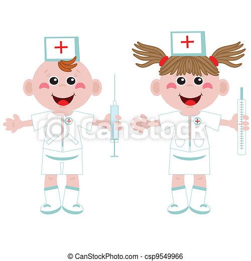 infirmière, docteur - csp9549966