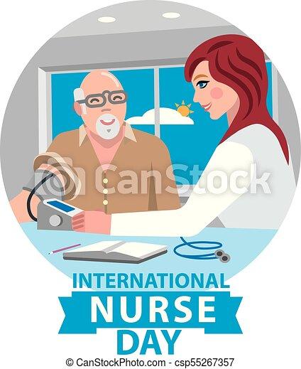 Infirmiere Jour Carte Carte Infirmiere Anniversaire Illustration Jour