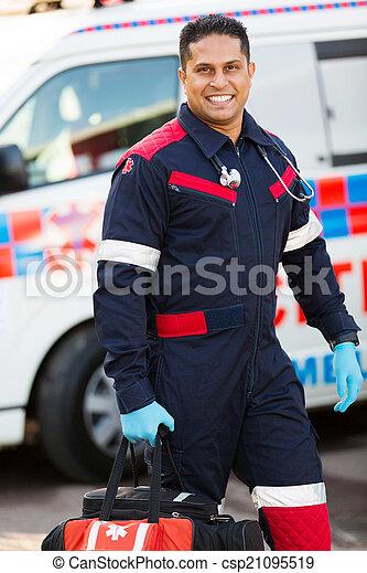 infirmier, porter, portable, équipement - csp21095519