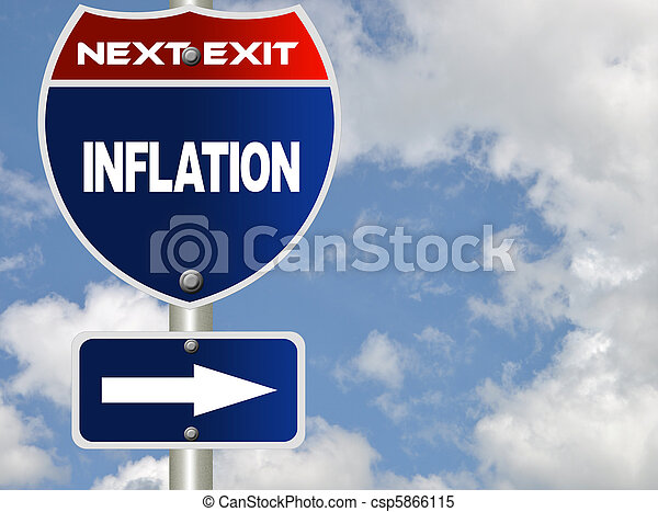 inflação, sinal estrada - csp5866115