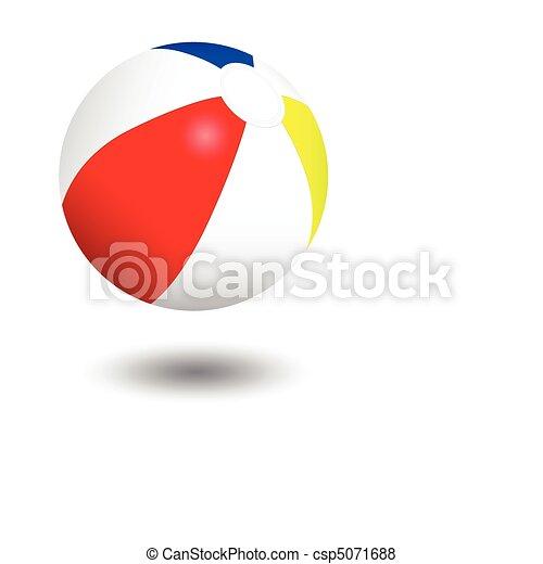 Inflatable beach ball illustration. - csp5071688