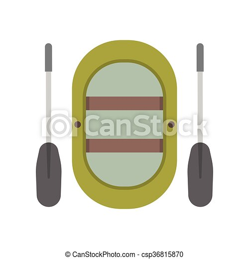 Inflatable boat vector illustration - csp36815870