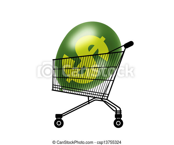black silhouette of a shopping caddy with a green dollar clip art rh canstockphoto co uk purchase disney clipart purchase requisition clipart