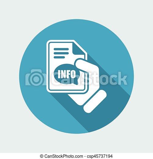 Info button icon - csp45737194