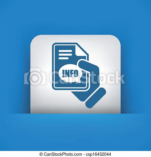 Info button icon - csp16432044
