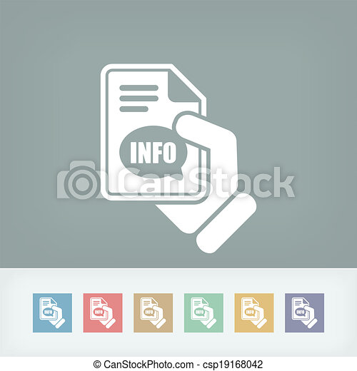 Info button icon - csp19168042