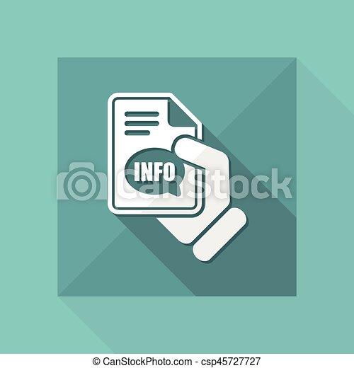Info button icon - csp45727727