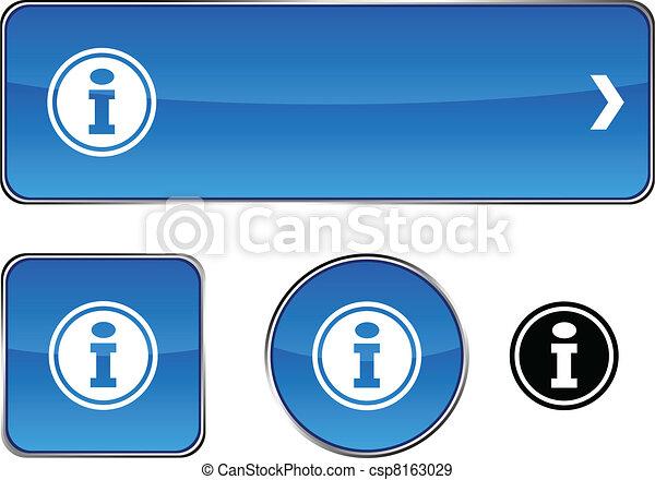 Info button set. - csp8163029