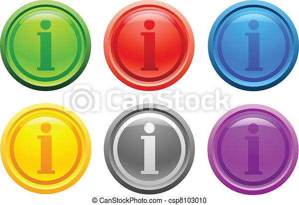 Info button. [Vector] - csp8103010