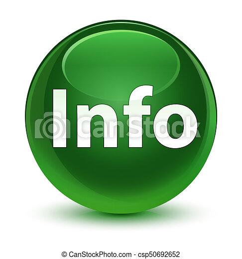Info glassy soft green round button - csp50692652