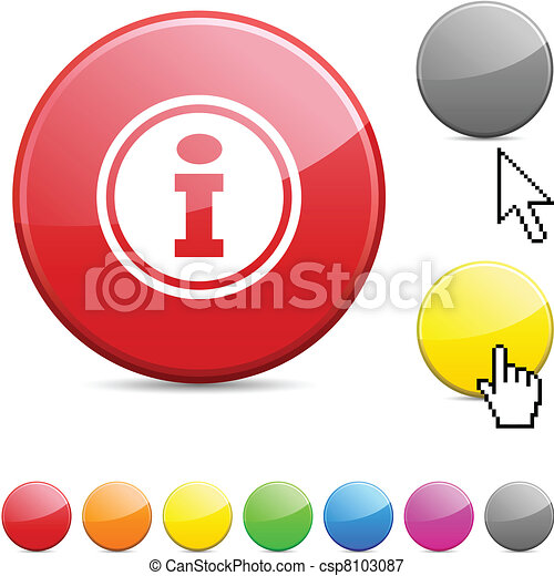Info glossy button. - csp8103087