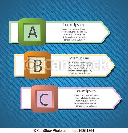info graphic arrows structure - csp16351364