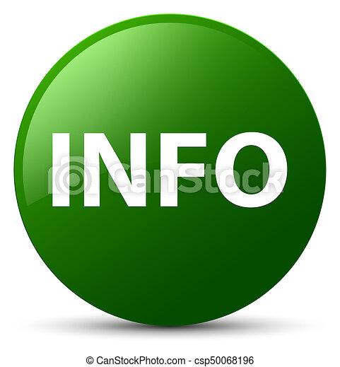 Info green round button - csp50068196