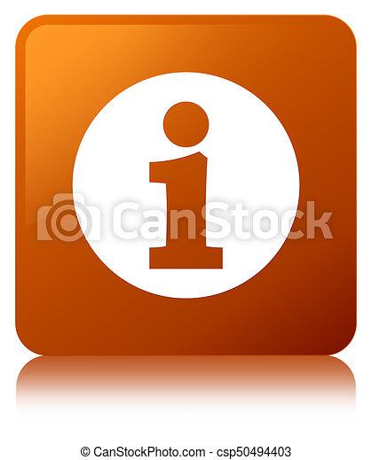 Info icon brown square button - csp50494403
