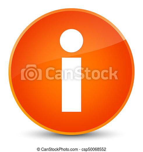 Info icon elegant orange round button - csp50068552