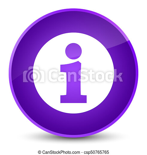 Info icon elegant purple round button - csp50765765