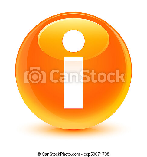 Info icon glassy orange round button - csp50071708