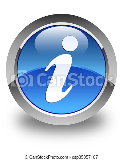 Info icon glossy blue round button 2 - csp35057107
