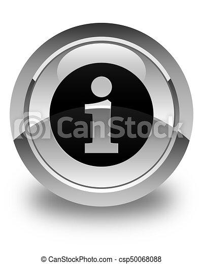 Info icon glossy white round button - csp50068088