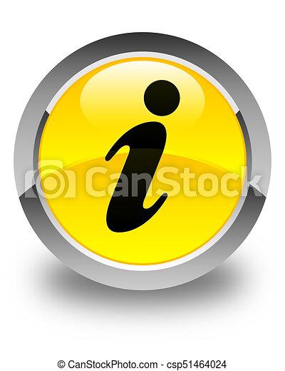 Info icon glossy yellow round button - csp51464024
