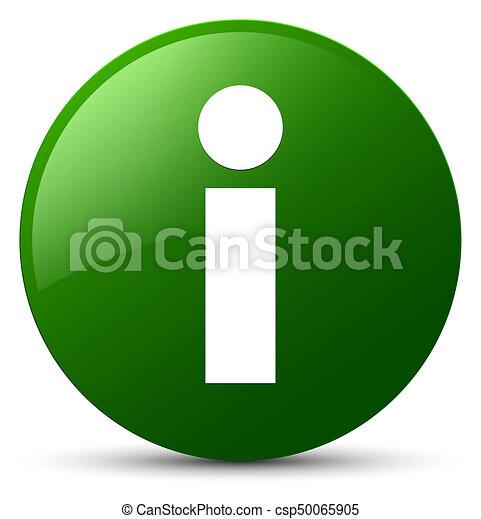Info icon green round button - csp50065905