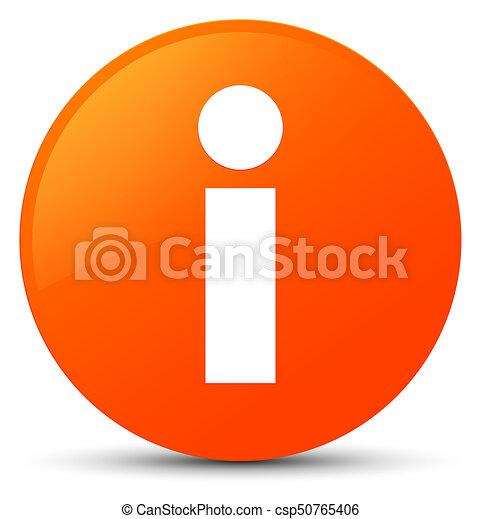 Info icon orange round button - csp50765406