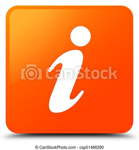 Info icon orange square button - csp51466290