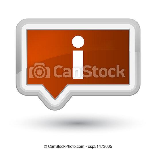 Info icon prime brown banner button - csp51473005