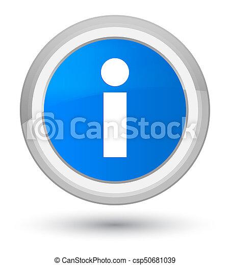 Info icon prime cyan blue round button - csp50681039