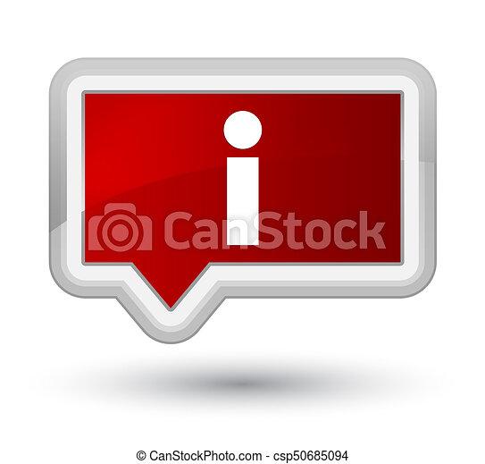 Info icon prime red banner button - csp50685094