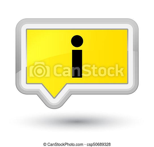 Info icon prime yellow banner button - csp50689328