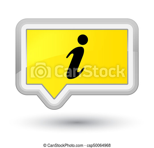 Info icon prime yellow banner button - csp50064968