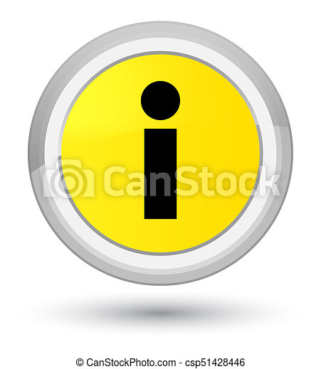 Info icon prime yellow round button - csp51428446