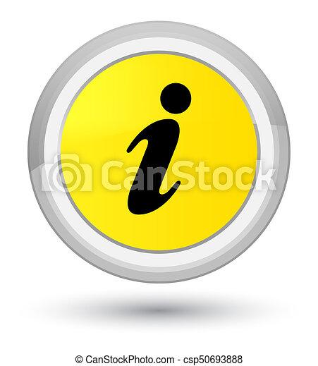 Info icon prime yellow round button - csp50693888