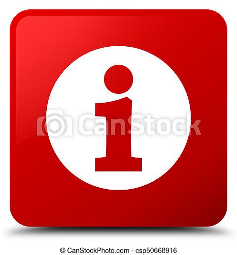 Info icon red square button - csp50668916