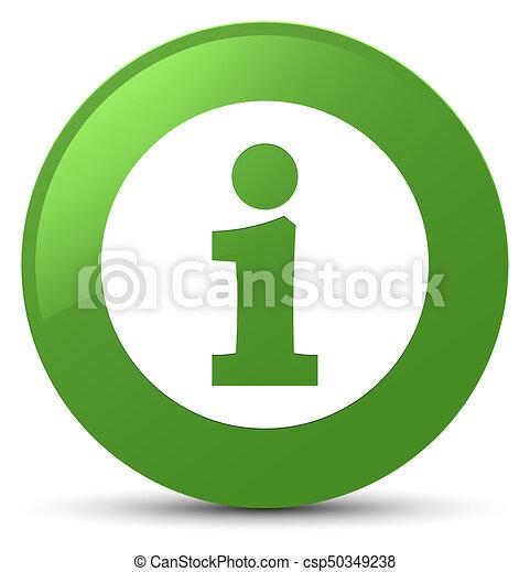 Info icon soft green round button - csp50349238