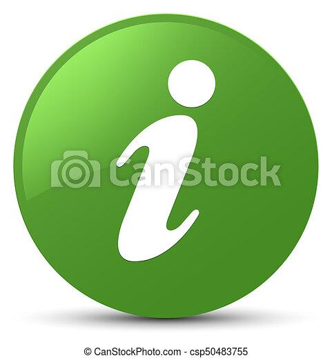 Info icon soft green round button - csp50483755
