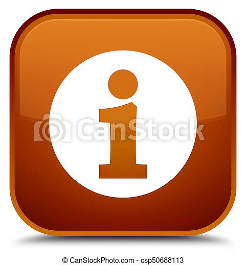 Info icon special brown square button - csp50688113