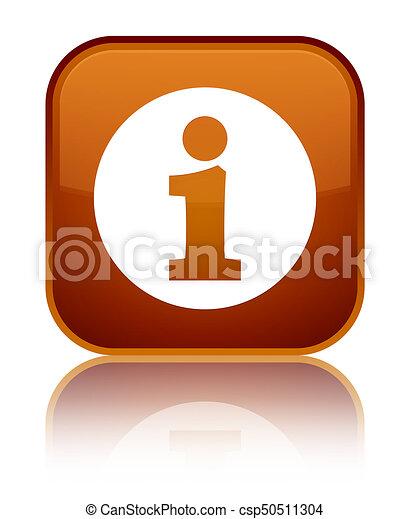 Info icon special brown square button - csp50511304